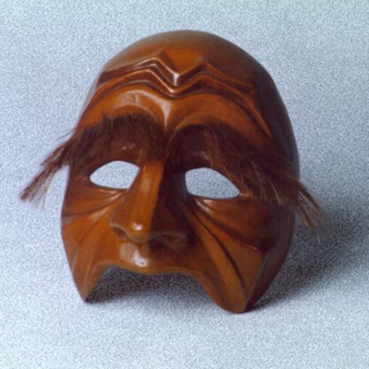 Pantalone - Meia-máscara Criação: Venicio Fonseca (téc. colagem c/ papel e tela) Para o acervo do Moitará