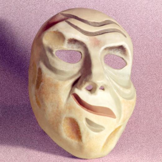 Máscara Expressiva Criação: Erika Rettl (téc. colagem c/ papel e tela) Acervo do Grupo Moitará