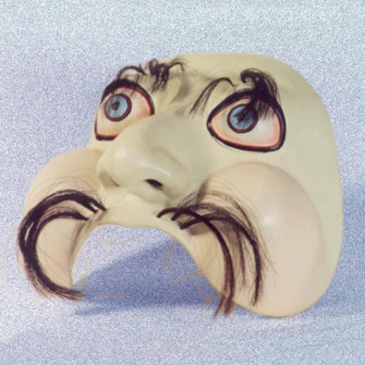 Sapão - Meia-máscara Criação: Erika Rettl (téc. colagem c/ papel e tela) Acervo do Grupo Moitará
